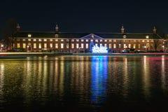 Creatieve lichte kunst voor het Kluismuseum tijdens F Stock Afbeelding