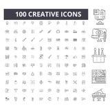 Creatieve lijnpictogrammen, tekens, vectorreeks, het concept van de overzichtsillustratie stock illustratie