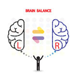 Creatieve linker en juiste het conceptenachtergrond van het hersenenidee royalty-vrije illustratie
