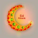 Creatieve maan voor Eid-festivalviering Royalty-vrije Stock Afbeeldingen