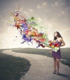 Creatieve manier Stock Foto