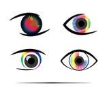 Creatieve Menselijke ogen Stock Afbeeldingen