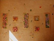 Creatieve muurcontouren royalty-vrije stock foto's