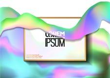 Creatieve ontwerpaffiche met abstract hologrampatroon Royalty-vrije Stock Afbeelding