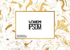 Creatieve ontwerpaffiche met abstract marmeren patroon Stock Foto's