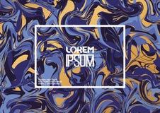 Creatieve ontwerpaffiche met abstract marmeren patroon Stock Fotografie