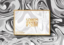 Creatieve ontwerpaffiche met abstract marmeren patroon Royalty-vrije Stock Foto