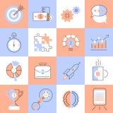 Creatieve pictogrammen geplaatst vlakke lijn Royalty-vrije Stock Fotografie