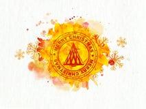 Creatieve rubberzegel voor Vrolijke Kerstmis Royalty-vrije Stock Fotografie