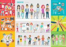 Creatieve teamreeks vector illustratie