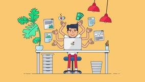 Creatieve Technologie-Werkruimte stock video