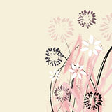 Creatieve universele bloemenkaart Hand Getrokken texturen Huwelijk, verjaardag, verjaardag, de dag van Valentin ` s, partijuitnod stock illustratie