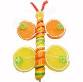 Creatieve van het de gelei zoete voedsel van het marmeladefruit de vlindervorm Stock Fotografie