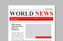 Creatieve vectorillustratie van dagelijks krantendagboek, bedrijfs promotiedienieuws op transparante achtergrond wordt geïsoleerd royalty-vrije illustratie
