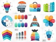 Creatieve vectorpijleninfographics, diagrammen Stock Fotografie