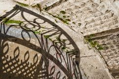 Creatieve Visie van Schaduwen en Silhouetten op de Straat Stedelijk Art Abstract Stock Fotografie