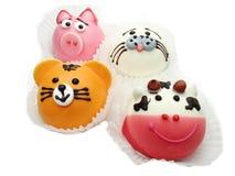 Creatieve voedselcakes voor kind grappige dierlijke vorm royalty-vrije stock fotografie