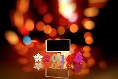Creatieve vrolijke Kerstmis Gelukkige Nieuwjaren van 2016 Stock Foto's