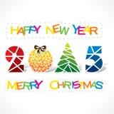 Creatieve vrolijke Kerstmisachtergrond Stock Foto
