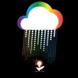 Creatieve wolk Stock Afbeeldingen