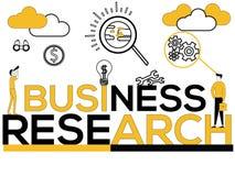Creatieve Word concepten Bedrijfsonderzoek en Mensenactiviteiten stock illustratie