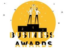 Creatieve Word concepten Bedrijfstoekenning en Mensen die activiteiten doen royalty-vrije illustratie