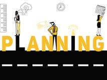 Creatieve Word concepten Planning en Mensen die dingen doen stock illustratie