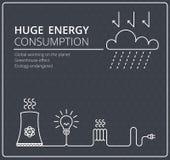 Creatieve zwarte vectorelektriciteit als achtergrond Zaken, slank ontwerpidee Stock Foto