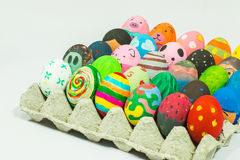 Creating art on eggs for Easter. Stock Images
