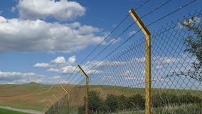 Creating barbed fence to prevent smuggling and immigrants at the borders,