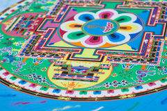 Creating a Buddhist sand mandala. Stock Images