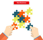 Creating or Building Own Business Concept Royalty Free Stock Images