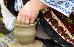 Creating ceramic Stock Photo