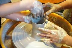 Creating  ceramic pot Royalty Free Stock Photos