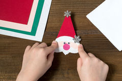 Creating a Christmas decoration for table setting. Step 6 Royalty Free Stock Images