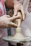 Creating a clay jar Stock Photo