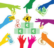 Creating common property. In Euros Stock Images