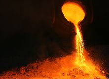 Creating a fire mountain stock images