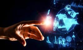 Creating innovative technologies. Mixed media Royalty Free Stock Photography