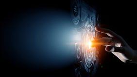 Creating innovative technologies . Mixed media Royalty Free Stock Photos
