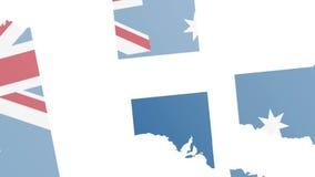 Creating map Australia vector illustration