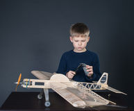 Creating the model plane. Measuring thickness Royalty Free Stock Images