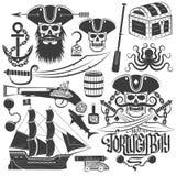 Creating pirate logo Stock Images