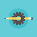 Creating process flat icon illustration Royalty Free Stock Image