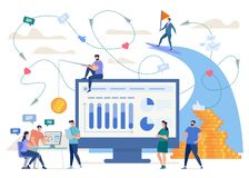 Creating Successful Online Business Vector Concept stock illustration