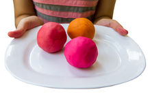 Colorful  play dough Royalty Free Stock Photography