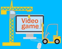 Creating a video game Stock Photo