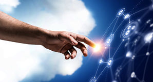 Creating wireless technologies. Mixed media Stock Photos