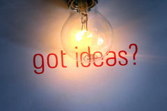 Creation. Lightbulb and got ideas. It's suitable for creation setting Stock Photo