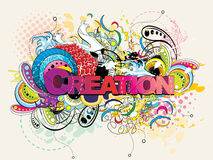 Creation abstract text Royalty Free Stock Photography